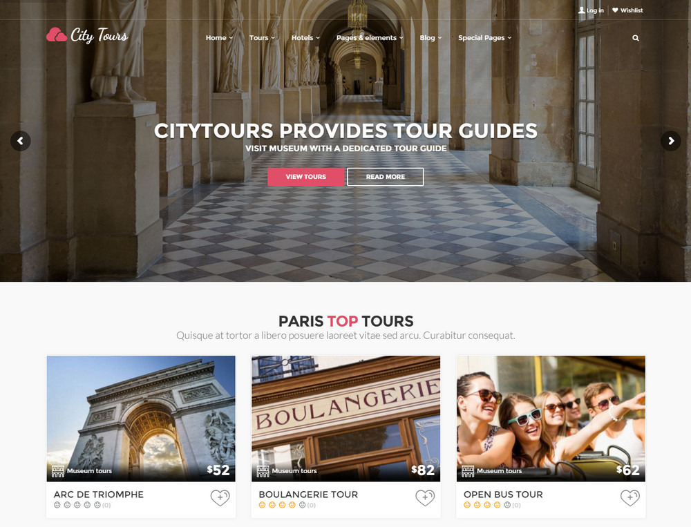 City Tours Hotel WordPress Theme