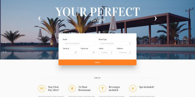 Five Stars Hotel WordPress Theme