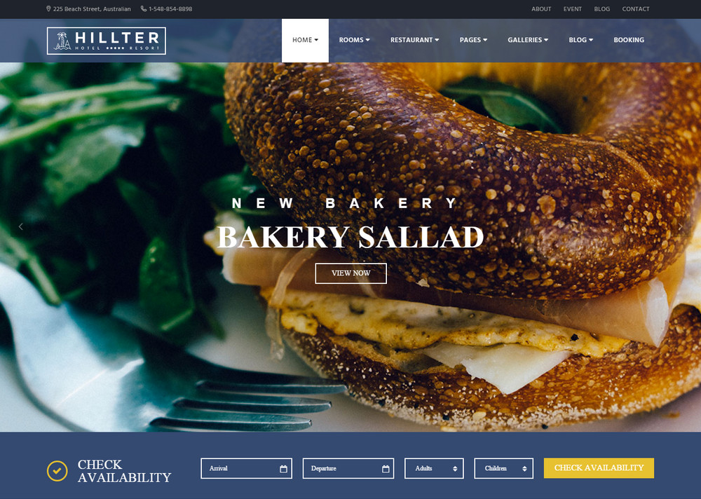 Hillter Hotel WordPress Theme
