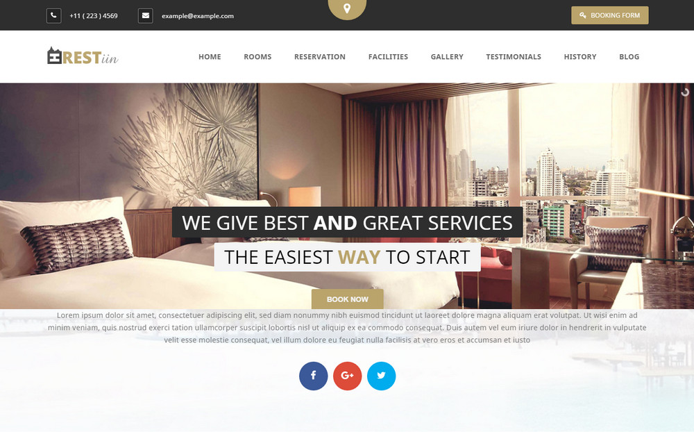 Restinn Hotel WordPress Theme