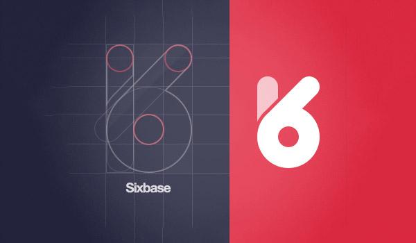 flat inspiring number logo design