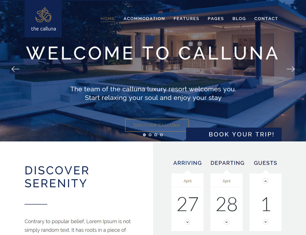 The Calluna WordPress Theme