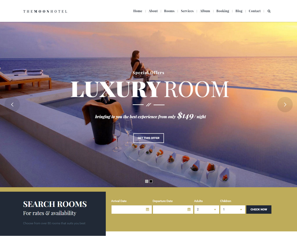 The Moon Hotel WordPress Theme