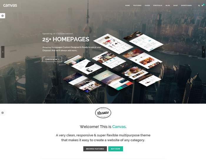 canvas - super flexible multipurpose theme