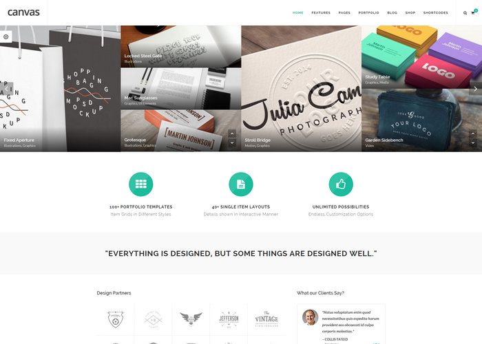 Canvas - Multi-Purpose HTML5 portfolio Template