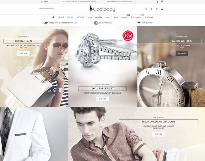 Coolbaby - Fashion eCommerce HTML theme