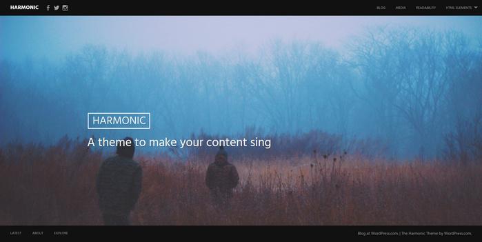 harmonic - A theme for travel