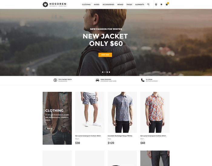 Hosoren - Elegant eCommerce HTML5 Template