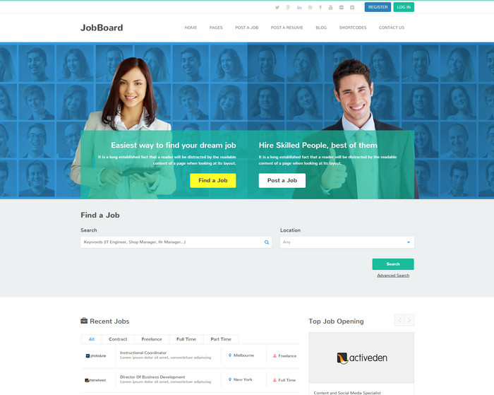 job board - best wordpress jobs themes