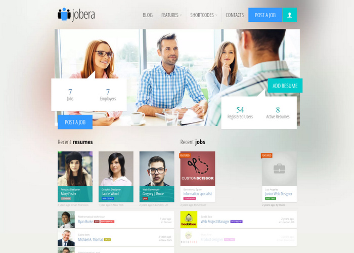 Jobera – Job Portal WordPress Theme