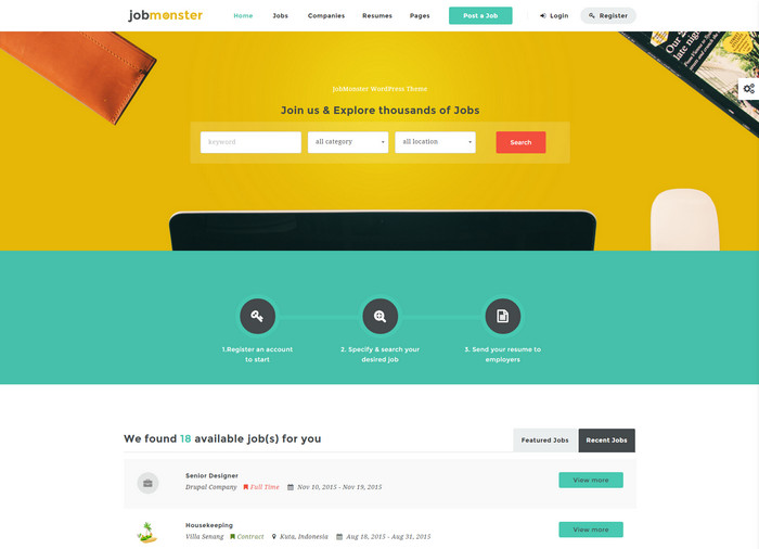 JobMonster WordPress Theme