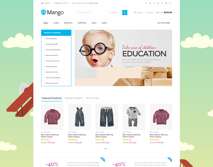 Responsive Ecommerce HTML5 Template Shopping