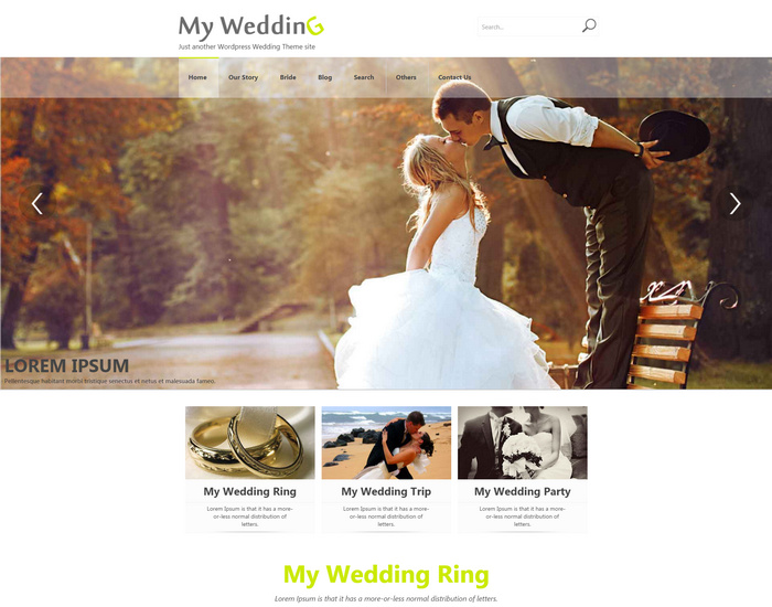 my wedding - free WordPress Weddings theme
