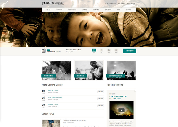 NativeChurch - nonprofit Responsive HTML5 Template