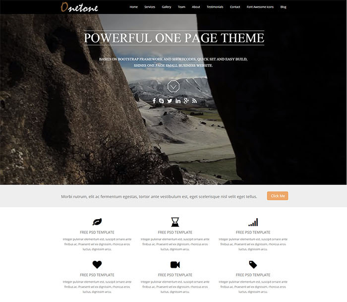 Onetone - free responsive business theme