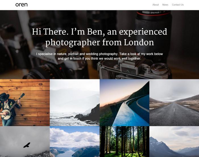 Minimal, simple portfolio theme with blog