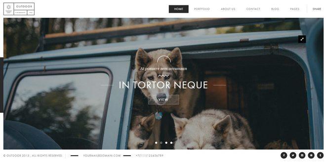 outdoor - premium WordPress photography theme