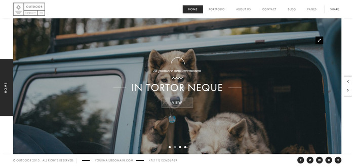 outdoor - premium WordPress photography theme