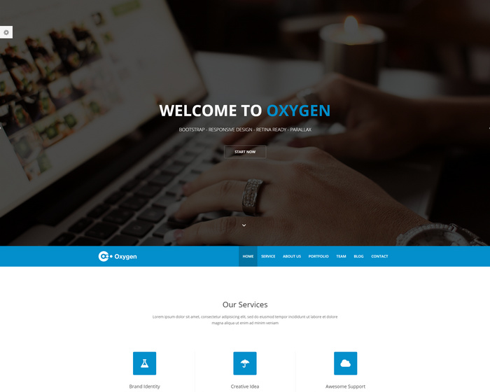 Free Bootstrap One Page html Theme