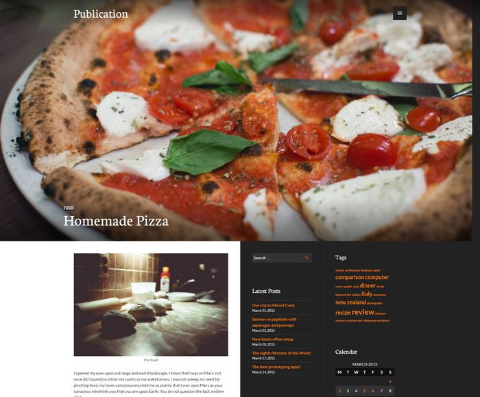 3 column food blog theme