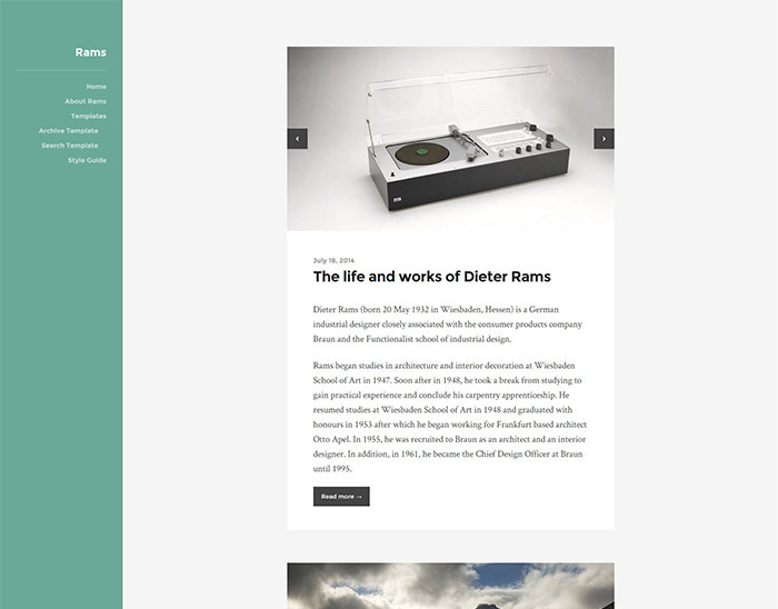 rams is a flexible blog theme