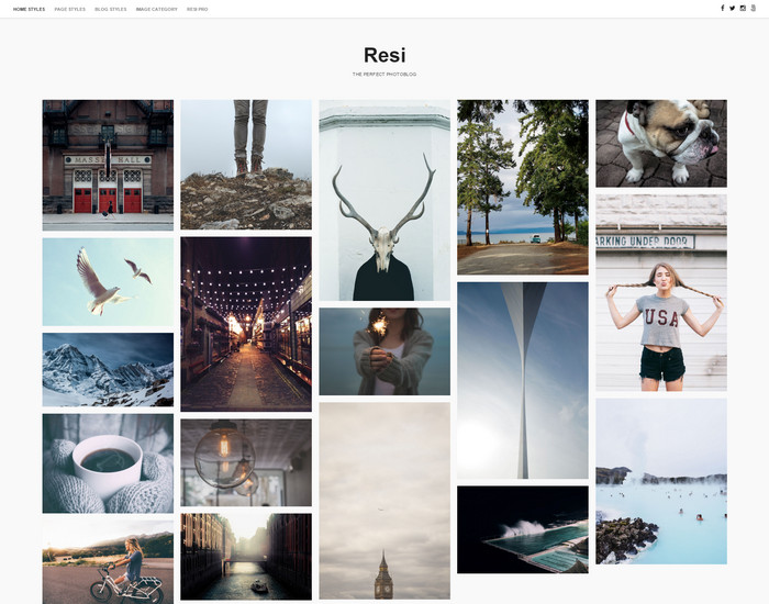 resi- free portfolio wordpress theme
