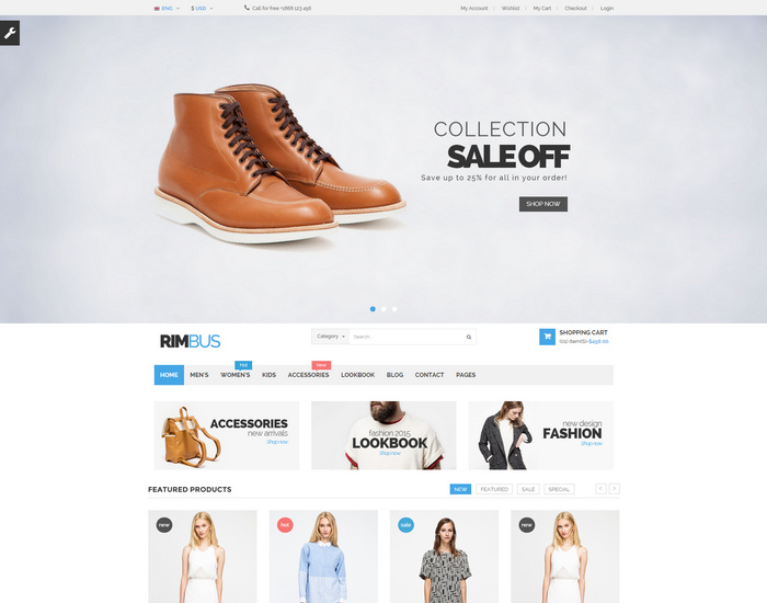 Rimbus - The Multipurpose eCommerce Template