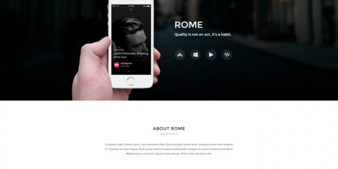 Rome - App Landing Page
