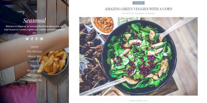 seasonal - wordpress food blog theme for free