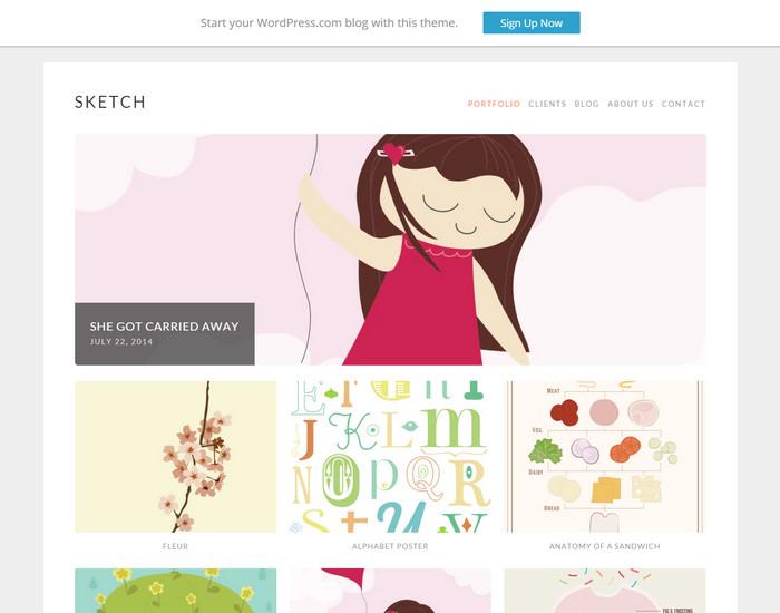 sketch - free responsive portfolio theme