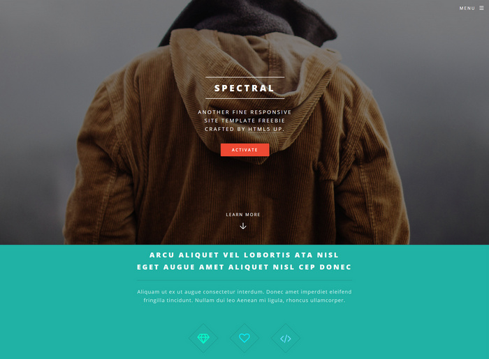 spectral - free multi html5 template