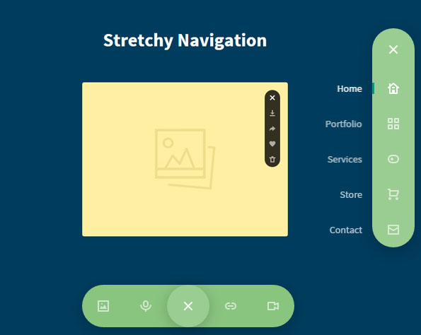 Stretchy Navigation menu