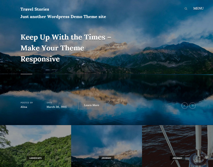 travel stories - free wordpress travel theme