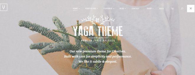 yaga - best portfolio wordpress themes