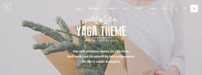 yaga - best portfolio wordpress themes