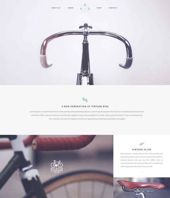 Bicycle Flat Layout psd template