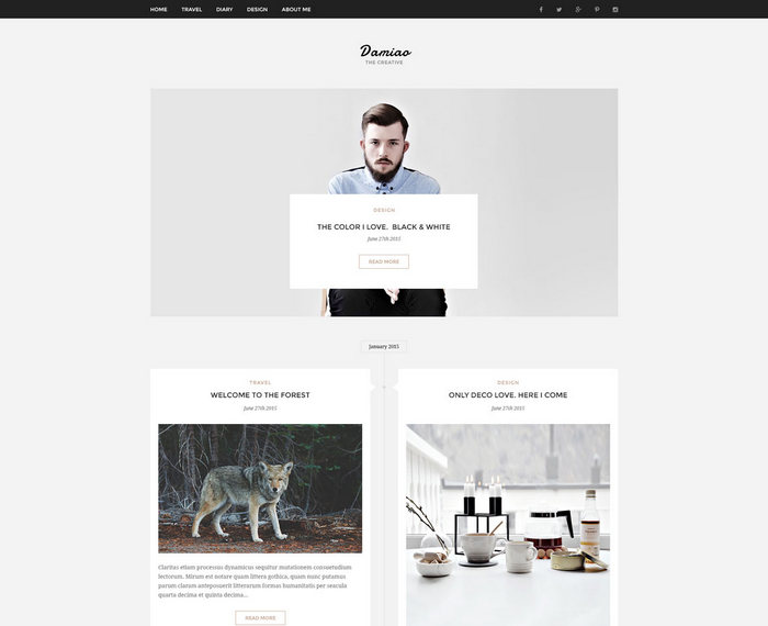 Multi - free blog PSD template
