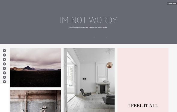 wordy tumblr theme for designers