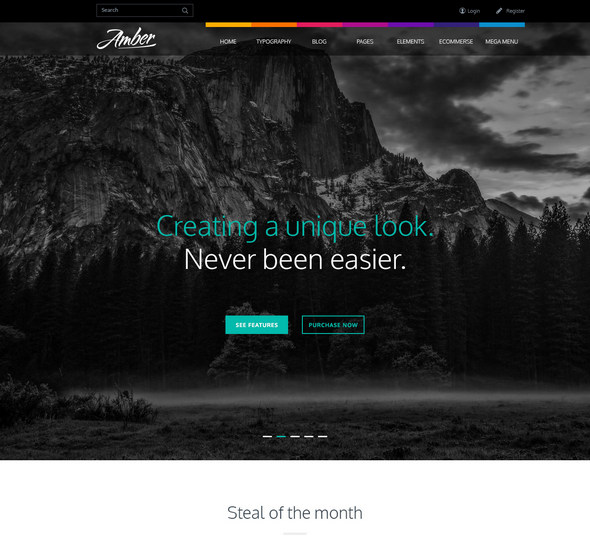 Amber - Free PSD Template