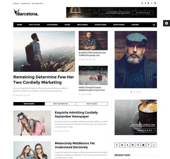 Barcelona. - Clean News & Magazine WordPress Theme