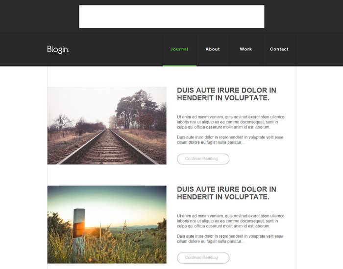 Blogin - Free Blog HTML Template