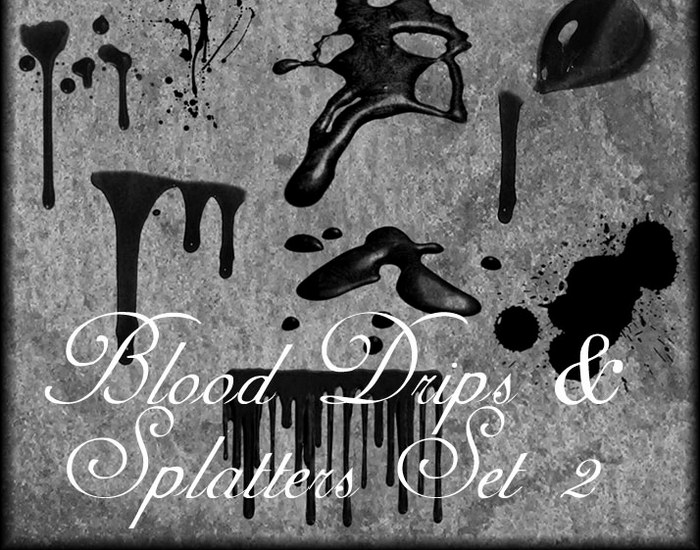 Blood Drips Photoshop Brushes