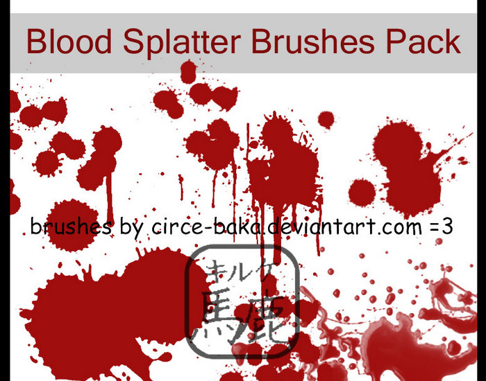 Blood Splatter Brush Pack