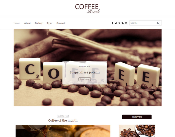 Coffee Break - Free Blog HTML Template
