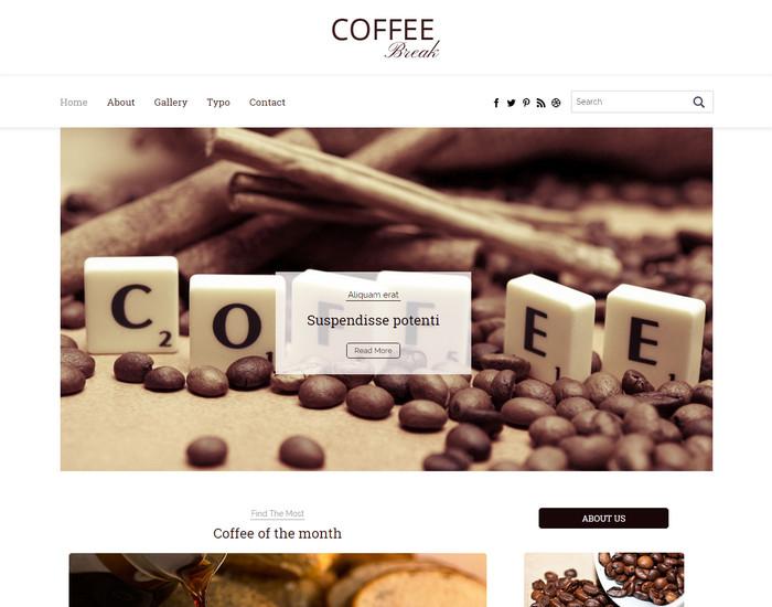 Coffee Break - Free Blog HTML Template
