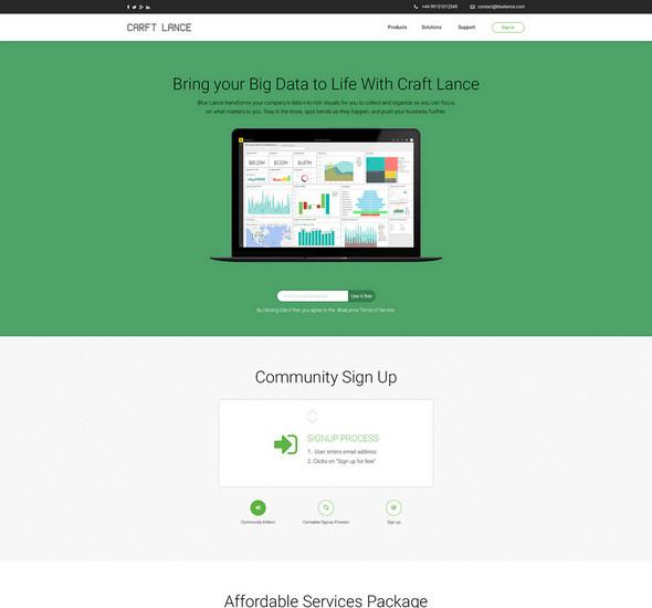 Craft Lance - Free Web PSD