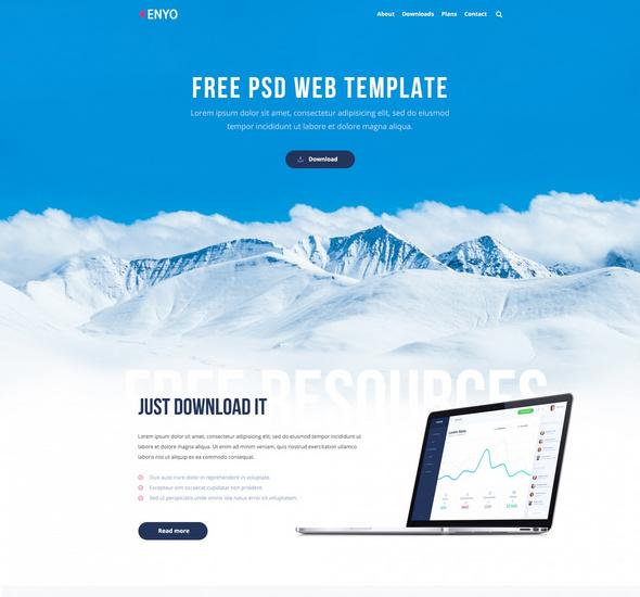 Enyo - PSD Web Template
