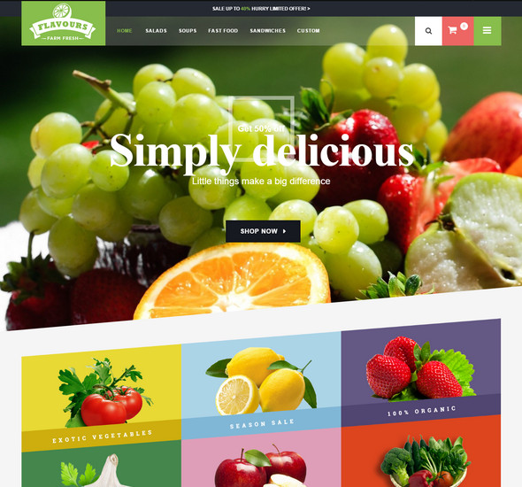 Flavours - Responsive Opencart Theme