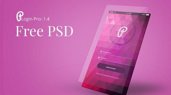 Free PSD Login Form - files download