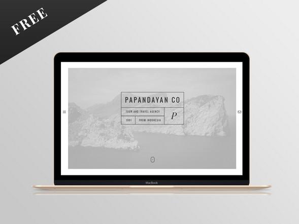Free Travel Website PSD